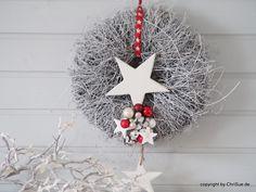 Weihnachtsdeko - Türkranz - ein Designerstück von ChriSue bei DaWanda