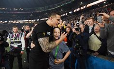 Sonny Bill Williams moved through the crowd walking up to the young boy and giving him is winning medal