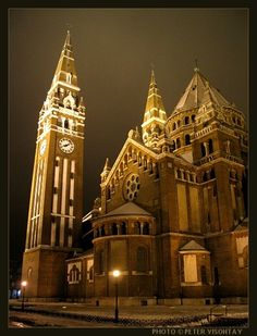 The Dom of Szeged, Hungary Have amazing outdoor Operas here in EVERY summer New Place Quotes, Places Around The World, Around The Worlds, Baroque Architecture, Austro Hungarian, Cathedral Church, Central Europe, Place Of Worship, Kirchen