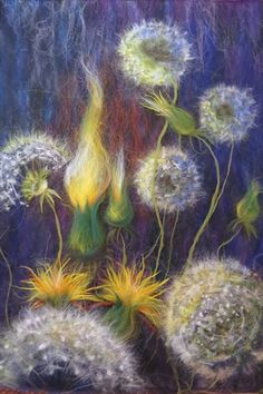 Instantly turn any picture into a palette with ColorSnap, created for you by Sherwin-Williams. Nuno Felting, Needle Felting, Felt Wall Hanging, Felt Pictures, Wool Art, Soft Sculpture, Felt Art, Felt Animals, Felt Flowers