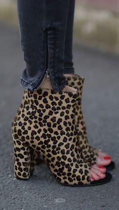 Leopard print peep toe booties  | Ioana Chisiu | Fashion, Beauty & Lifestyle Blog