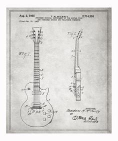 Take a look at this Gibson Les Paul Guitar 1955 Art Print by Oliver Gal on #zulily today!