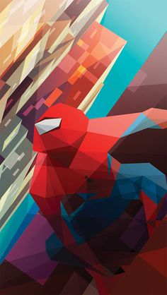 Spiderman Art iPhone 5/5C/5S Wallpaper