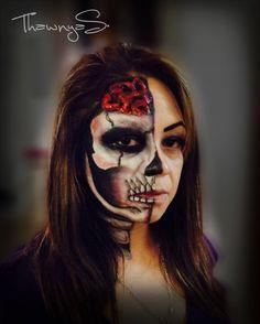 #face #paint #halloween #makeup