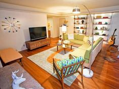 75 Awesome Retro living room Design & Decor Ideas