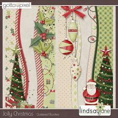 Jolly Christmas Borders :: Gotta Pixel Digital Scrapbook Store