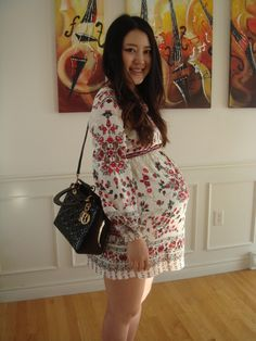 Russian Doll Dress baby bump style pic on Free People