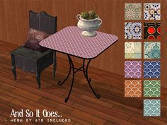 zerographic | [And So It Goes] - 11 Recolors of ATS SunnyDay Table