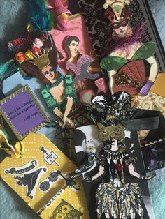 """I love all of my """"Masquerade """" tags so much!!  Thank you all!! It always makes my day when they arrive in the mail!  Created with Character Constructions art stamps."""