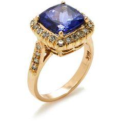Jyoti New York Women's Tanzanite & Pave Diamond Ring - Blue - Size 6