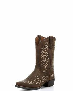 Kid's Shelleen Boot - Distressed Brown Western Boots, Cowboy Boots, Chelsea Wedding, Fancy Dress Up, Country Outfitter, Brown, Cowgirls, Leather, Kids