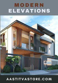Modern Exterior House Designs, Latest House Designs, Modern Architecture Design, Facade Design, Modern House Design, Exterior Design, British Architecture, Facade Architecture, Front Elevation Designs