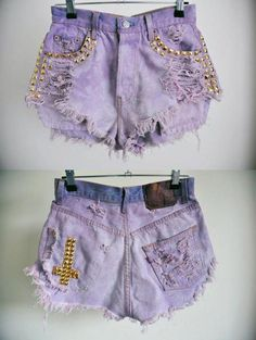 Purple short with golden spikes