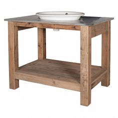 Old pine basin unit with a blue stone top - a touch of the unique for your bathroom - Trade Secret