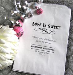 Personalized Paper Favor Goodie Bags - DIY favors