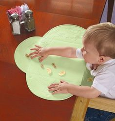 Such a great product!  Especially when stopping at a mall food court or somewhere like that where the cleanliness of the table might leave something to be desired or if your child is at that stage where he will chew on anything including tabletops....