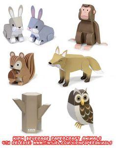 Ninjatoes' papercraft weblog: D/L final Kirin Beverage #papercraft animal (owl):