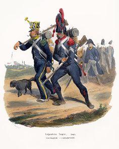 Infanterie légère, 1809. Voltigeur ~ Carabinier