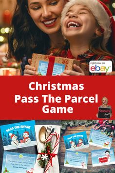 Christmas Pass The Parcel Game - Xmas Eve Box Fillers - Party Christmas Games Kid Adult Family - Holiday DIY Ice Breaker Activity Fun Filler Christmas Games For Adults, Christmas Games For Family, Christmas Poems, Christmas Party Games, Christmas Activities, Christmas Fun, Christmas Buffet, Pass The Parcel Game, Xmas Eve Boxes
