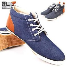 Two-Tone Faux-Leather Canvas Casual Shoes from #YesStyle <3 Sha 2 Shop YesStyle.com