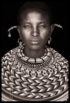 Northern Kenya Beautiful Photography by John Kenny taken with Africa's remotest tribes. Fine art prints in black and white, also colour, are available to buy in signed, limited editions. Facing Africa: the book is out now John Kenny, African Tribes, African Women, We Are The World, People Around The World, African Image, Black Image, Foto Art, Photography Gallery