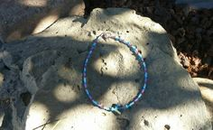 Glass bead anklet