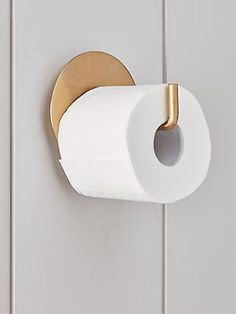 bathroom accessories NEW Loo Roll Holder - Brass - Storage Furniture - Drawers, Ladders amp; Loo Roll Holders, Toilet Roll Holder, Paper Holders, Bathroom Accessories Uk, Brass Bathroom, Minimal Bathroom, Marble Bathrooms, Dream Bathrooms, Bathrooms Decor
