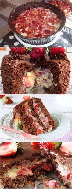 QUER UM BOLO PARA IMPRESSIONAR SUAS VISITAS…AQUI ESTÁ MARAVILHOSO!!! VEJA AQUI>>> Alterne os ingredientes secos com os molhados: farinha, leite e chocolate em pó. #receita#bolo#torta#doce#sobremesa#aniversario#pudim#mousse#pave#Cheesecake#chocolate#confeitaria