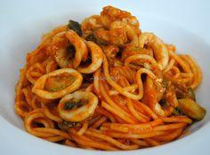 Asopaipas. Recetas de Cocina Casera .: Espaguetis con Calamares
