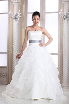 Bianca Gown - Wedding Dress - Simply Bridal Almost the same as the other gown, this one ties in back and is a bit simpler, which I like.