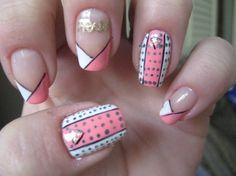 Prada by colormesoftly - Nail Art Gallery nailartgallery.nailsmag.com by Nails Magazine www.nailsmag.com #nailart