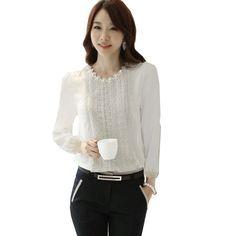 Zeagoo Women's Chiffon Long Sleeve Blouse Tops Shirts Lace Embellished Zeagoo http://www.amazon.com/dp/B00HVXXF3I/ref=cm_sw_r_pi_dp_Tsz6tb1Z83TCP