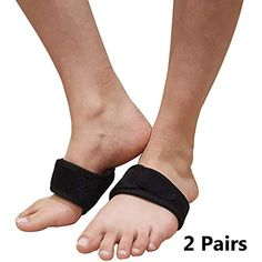 b4aa873ef3 Plantar Fasciitis Arch Support Braces Adjustable Padded Cushion Foot Wraps  for Flat Feet High or Fallen