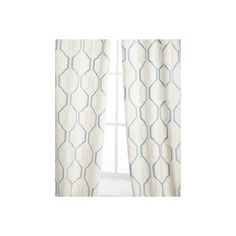 Softline Home Fashions Each 54W x 96L Maxwell Curtain ($128) ❤ liked on Polyvore featuring home, home decor, window treatments, curtains, lining curtains, softline home fashions and rod pocket curtains
