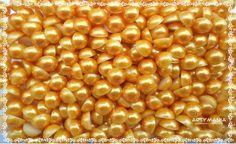 Meia Pérola Dourada 8 mm