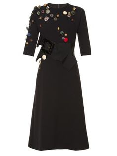 Dress for Women, Evening Cocktail Party On Sale, Black, Virgin wool, 2017, 10 12 Valentino