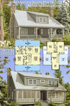 Quot Dog Trot Quot Style Farm House In 2018 House Plans