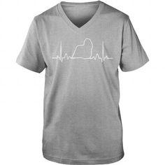Komondor Heartbeat V-Necks T-Shirts, Hoodies ==►► Click Image to Shopping NOW!