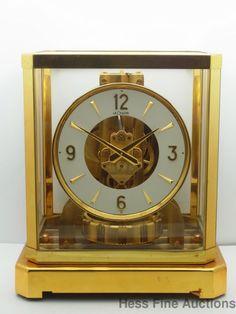 Vintage Jaeger LeCoultre Atmos Barometric Driven 15J Brass Mantle Shelf Clock