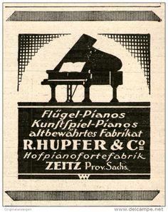 Original-Werbung/Inserat/ Anzeige 1925 - ZEITZ/HUPFER & CO. FLÜGEL PIANOS - ca. 70 X 85 mm