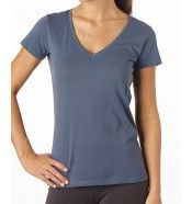 PACT organic cotton clothing Women's Twilight Gray V-Neck Tee