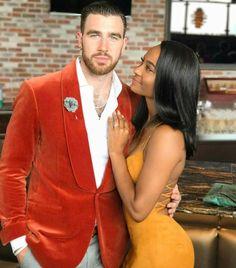 Kansas City Chiefs star Travis Kelcie and jis girlfriend Kayla Nicole ❤ Absolutely gorgeous interracial couple
