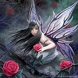 """Anne Stokes Design Rose Fairy Canvas Fantasy Art Wall Plaque: Stunning artwork """"Rose Fairy"""" designed by the talented Anne Stokes. Canvas picture stretched over wooden frame. Measures approx 10 x 7 Supplied sealed with hanging fittings. Anne Stokes, Elfen Fantasy, Fantasy Kunst, Fairy Pictures, Gothic Fairy, Love Fairy, Sad Fairy, Beautiful Fairies, Beautiful Live"""