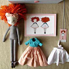 :: Crafty :: Cloth Doll :: 2 :: Dudi #fabricdolls #Cecíliamurgel #anacardia