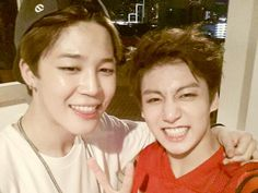 jimin and jungkook's twitter update