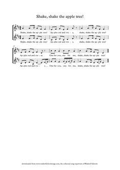 """ Shake the Apple Tree"" sheet music"