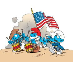 HAPPY SMOURTH OF JULY! This July marks The United States of America's Birthday, the day in 1776 when my country's founding fathers signed the Declaration of Independence. And to mark the. Best 90s Cartoons, Old School Cartoons, Classic Cartoons, Saturday Morning Cartoons 80s, Old Cartoon Characters, Image Princesse Disney, Smurf Village, Mickey Mouse, Space Ghost