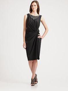Tadashi Shoji - Taffeta Necklace Dress