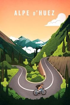 """Alpe d'Huez"" Posters by superchezbro 