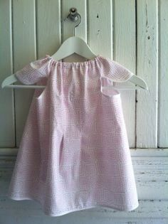 Apron dress for baby to child size 2  4 open back by washday, $32.00